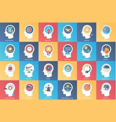 imagination brain features emotions and mind vector image