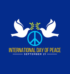 International day peace vector