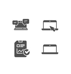 internet chat report checklist and portable vector image