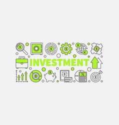 investment and money vector image