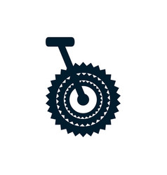Isolated cycling pedal icon flat design vector