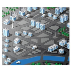 Isometric map vector image
