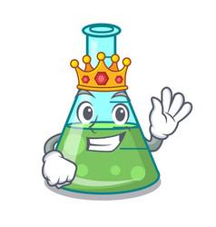 King science beaker mascot cartoon vector