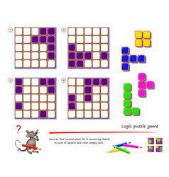 logic puzzle game for children and adults need vector image