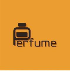 Logo Word Perfume vector image