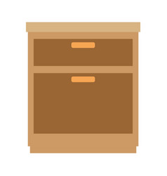 Office drawer isolated icon vector