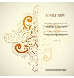 Orient style card vector image vector image