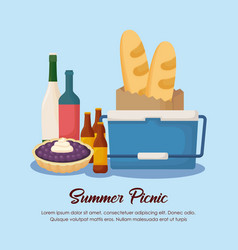 Picnic summer design vector