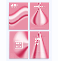 pink fashion gradient waves stock four cover vector image