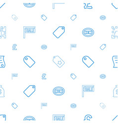 Price icons pattern seamless white background vector