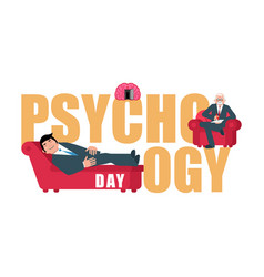 Psychology day consultation of psychotherapist vector