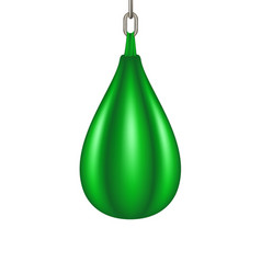 punching bag for boxing in green design vector image
