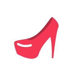 red female shoes flat womanish footwear sign vector image