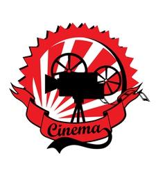 Retro Cinema Label vector