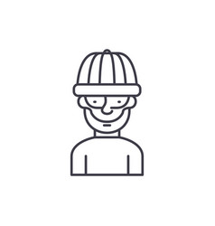 robber line icon concept robber linear vector image