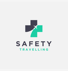 safety traveling logo icon vector image