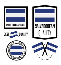 Salvador quality label set for goods vector