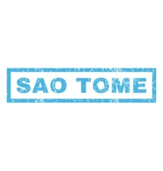 Sao Tome Rubber Stamp vector image