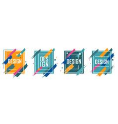 set colorful abstract minimalistic stylish vector image