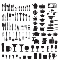 Set of cutlery icons vector image
