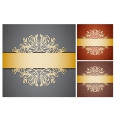 Set with backgrounds vector image