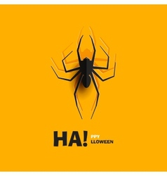 Spider cut out of paper vector