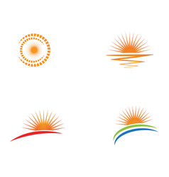 sun icon logo and symbols template design vector image