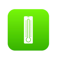 Thermometer icon digital green vector