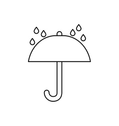 Umbrella symbol Delivery and logistics vector image