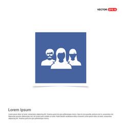 User group icon - blue photo frame vector
