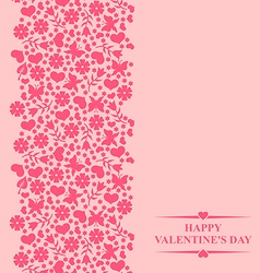 valentine card pink vector image