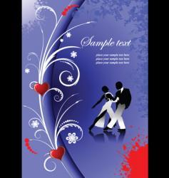 valentines day tango vector image