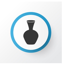 vase icon symbol premium quality isolated pottery vector image