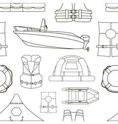 Water rescue set pattern vector