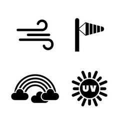 Weather forecast meteorology simple related icons vector