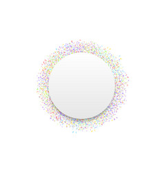 white label with confetti vector image