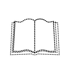 book sign black dashed icon on white vector image