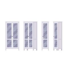 bookcase in white vector image