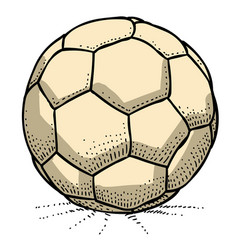 cartoon image of soccer ball icon football symbol vector image
