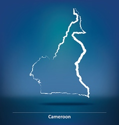 Doodle Map of Cameroon vector image