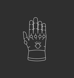 glove with gems vector image vector image