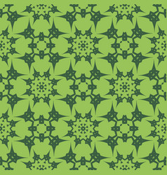 green ornamental seamless line pattern vector image