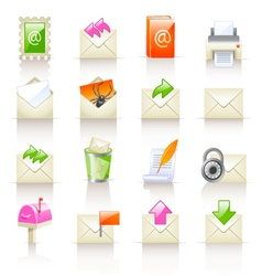 mail service icons vector image