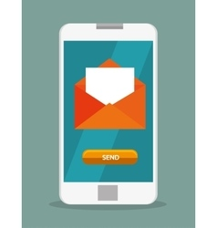 mobile phone email envelope icon design vector image