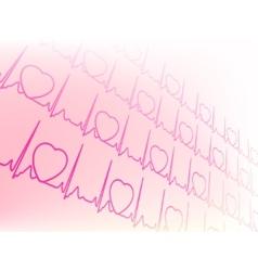 Eectrocardiogram waveform EKG test EPS 8 vector image