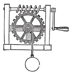Gears vintage engraved vector image vector image