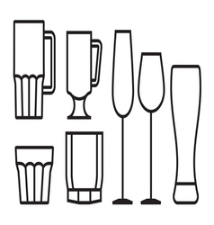 Glass cup icon5 vector image vector image