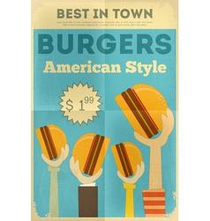 Hamburgers vector image vector image