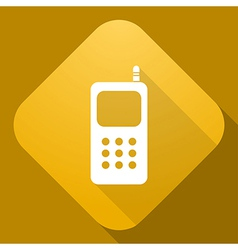 icon of Mobile Phone with a long shadow vector image