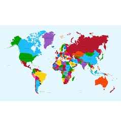World map colorful countries atlas eps10 file vector